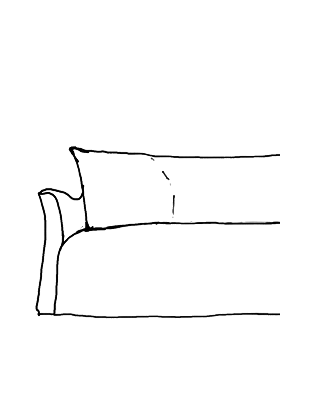 slipcovered sofa sketch